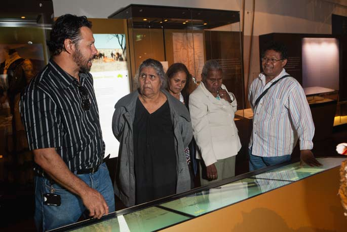 Host Lee Burgess takes members of the Yirandali community on a tour of Landmarks