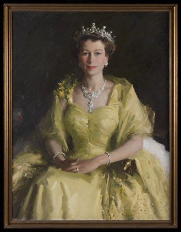 William Dargie's 'Wattle painting' of Queen Elizabeth II
