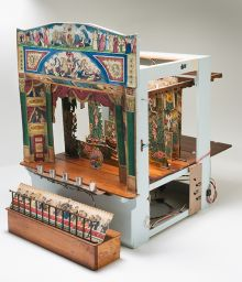 Side view of toy theatre