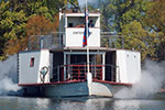 Photo of paddle steamer on lake