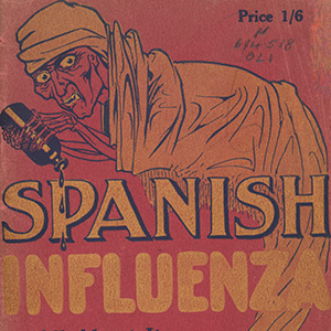 Book cover - Spanish influenza All About It Professor Wade Oliver, Copyright holder unknown.