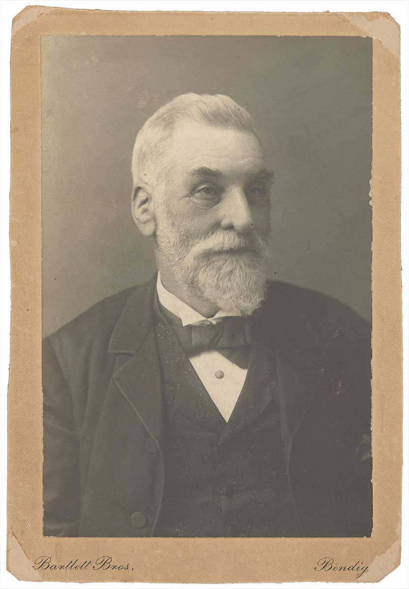 Photographic portrait of Bendigo Pottery founder George Duncan Guthrie, about 1890. - click to view larger image