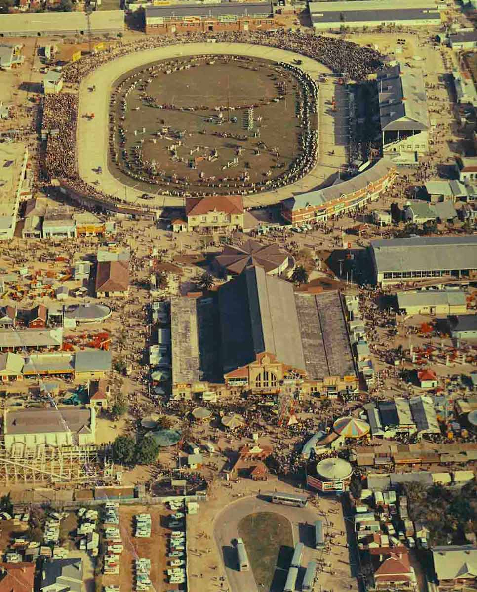 Aerial view of the Adelaide Showgrounds in Wayville, 1965. - click to view larger image