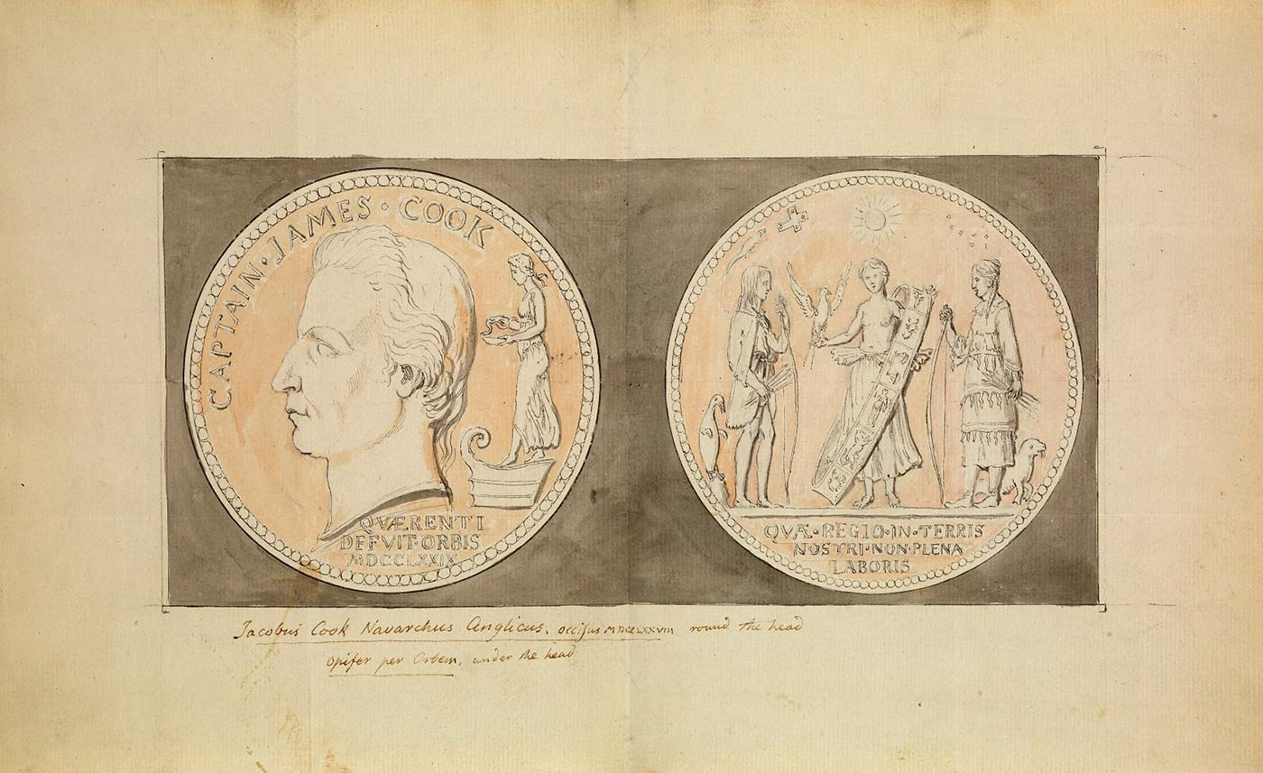 Cook medal design - click to view larger image