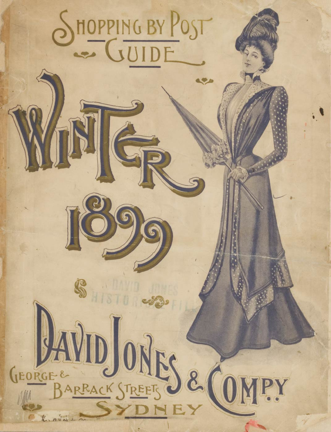 Cover of 'Shopping by Post Guide, Winter 1899', David Jones & Compy. David Jones' archive collection. - click to view larger image