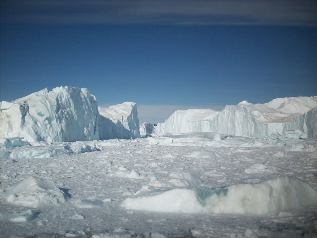 Landscape featuring ice glaciers. - click to view larger image