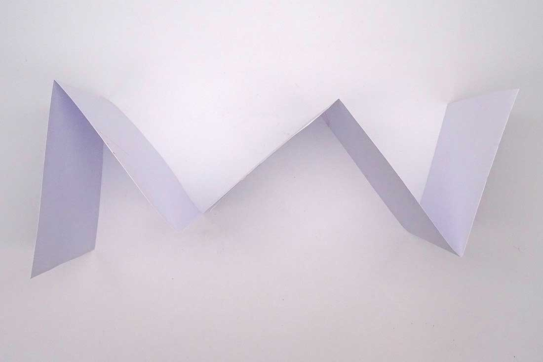 Paper in the form of a zig zag. - click to view larger image