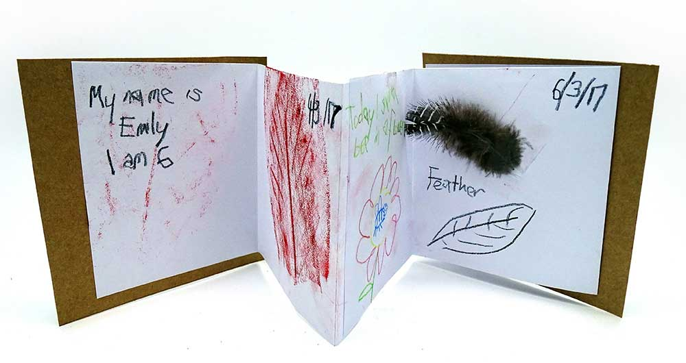 Decorated journal. - click to view larger image