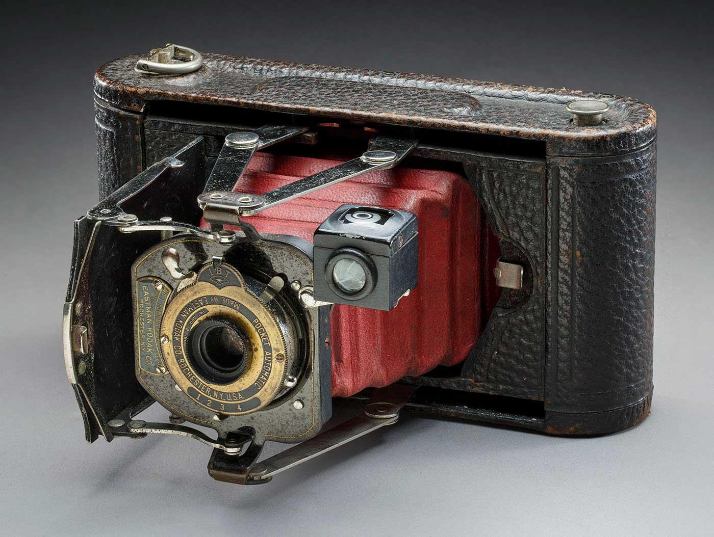 Old folding camera.