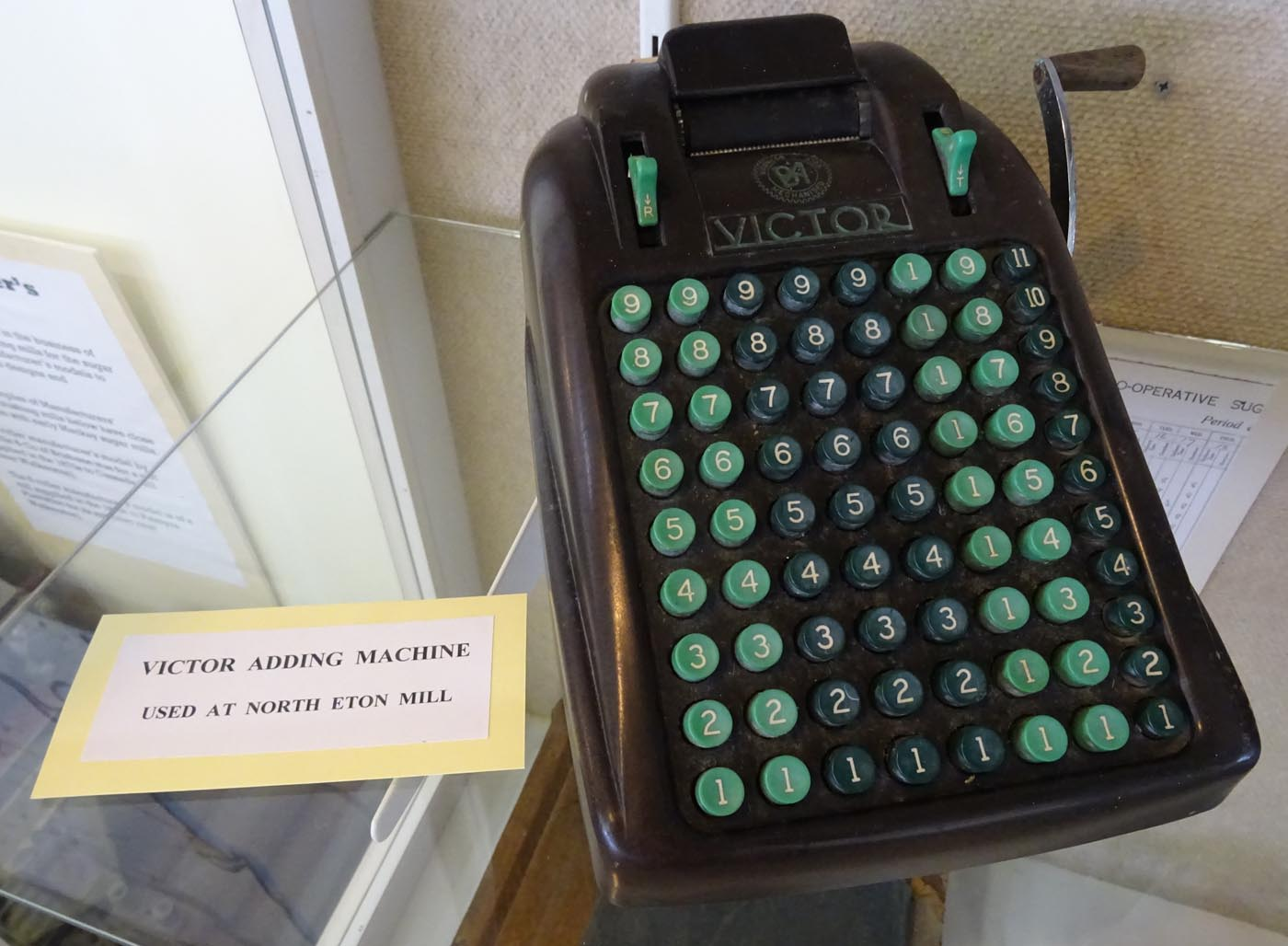 A colour photograph of a Victor adding machine. - click to view larger image