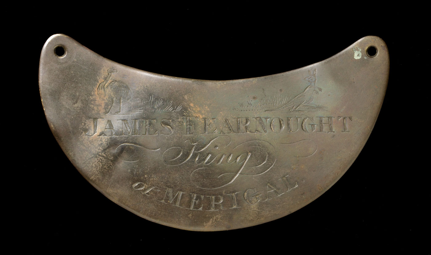 Engraved breastplate.