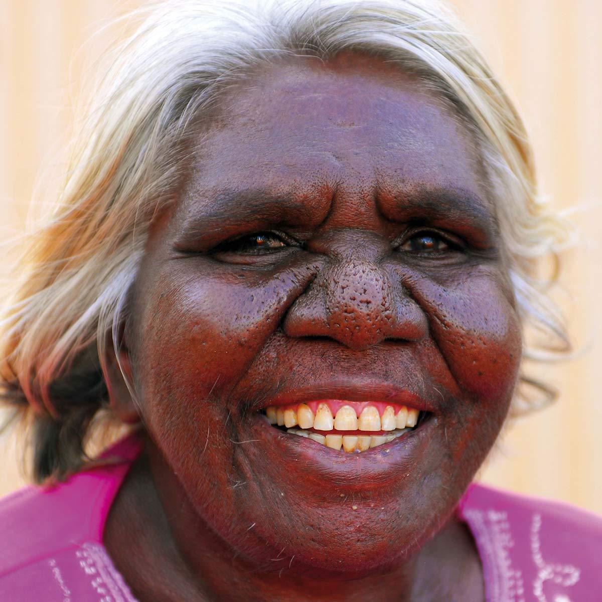Portrait of Ngalangka Nola Taylor.
