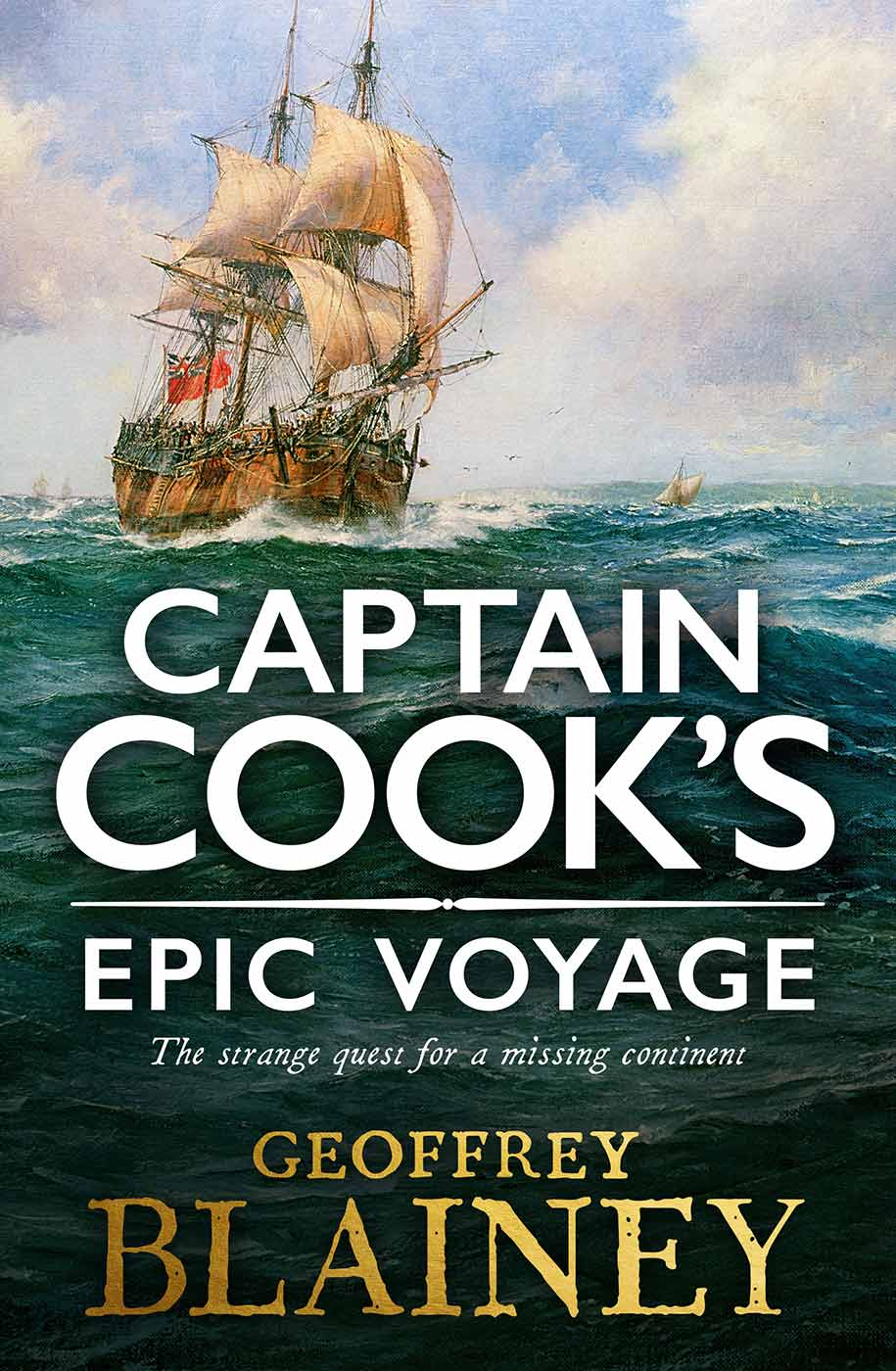 Book cover for 'Captain Cook's Epic Voyage'.