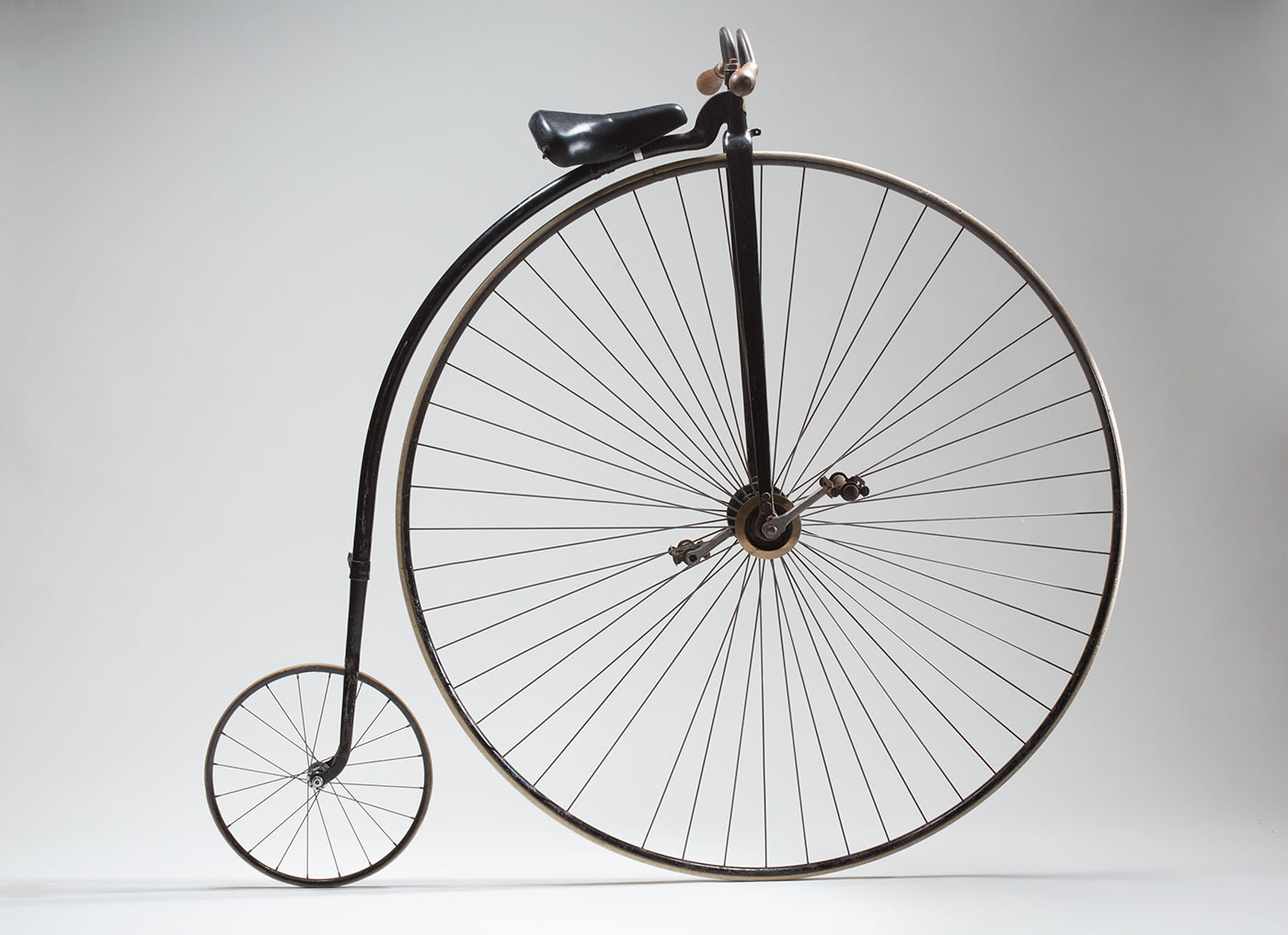 Studio image of a penny-farthing bicycle.  - click to view larger image