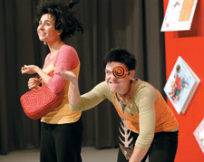 Performers from the Theatre of the Deaf bringing a new dimension to popular children's books.