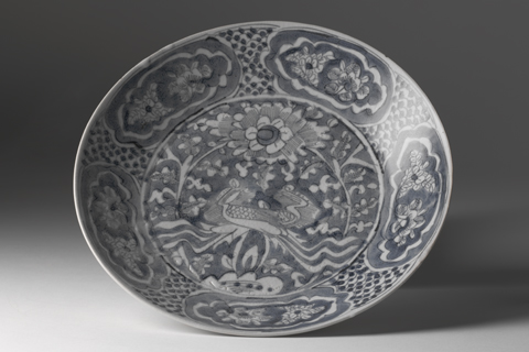 A decorative ceramic bowl.