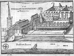 Engraving of a factory.