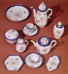 Tea pots, cups and sauces.