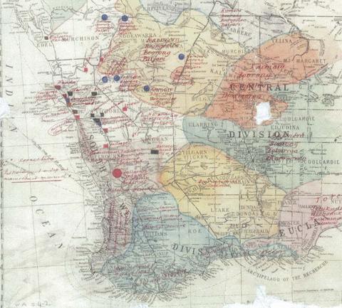 Map of Western Australia 1907
