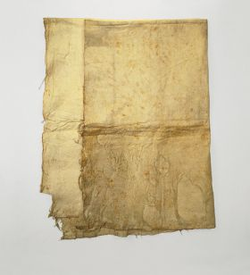 Barkcloth, an undyed multi-layered soft cloth.