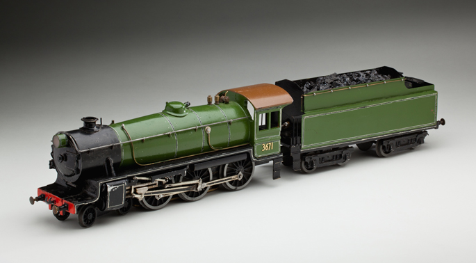 New South Wales Railways C36 class locomotive and tender, made with pressed and cast metals by Frederick Steward and associates