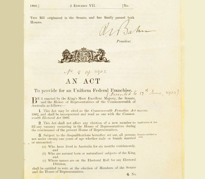 front page of original legislation