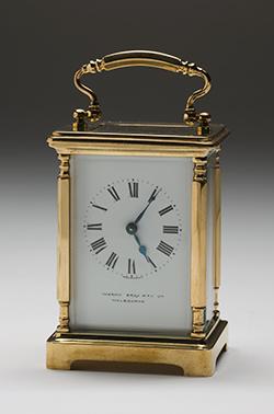 A carriage clock.