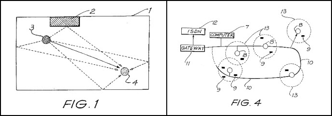 Drawing showing the trajectory of the wifi signal (left). Figure 4 drawing of a wireless network.