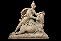 Statue of Mithras, marble, 100–200 CE, Rome, Italy. © The Trustees of the British Museum.