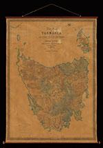 Photo of map of Tasmania