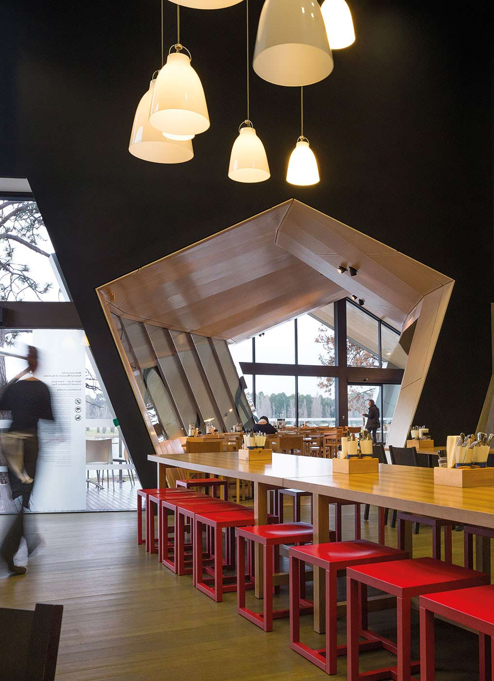Part of the interior of the new Museum Cafe.