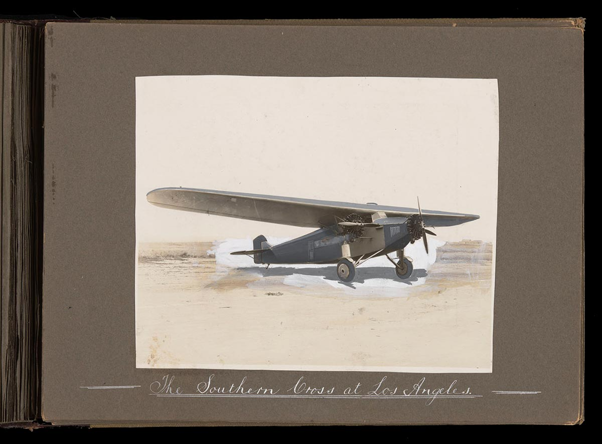 'Southern Cross' plane on the ground. - click to view larger image