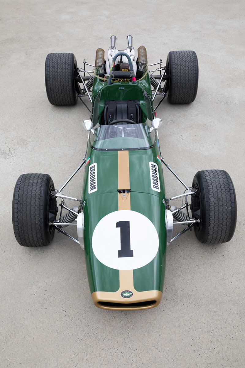 View from above of an open-wheeled racing car. - click to view larger image