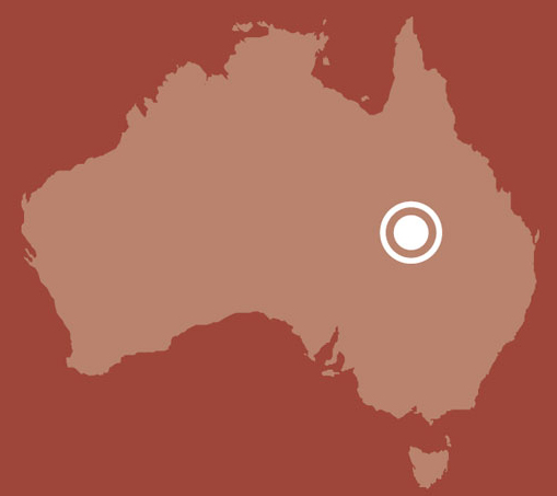Map of Australia showing location of Birdsville, Queensland. - click to view larger image