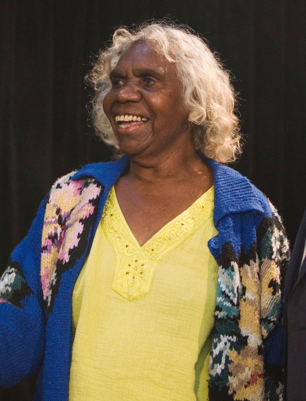 Portrait photo of an Aboriginal Australian woman.