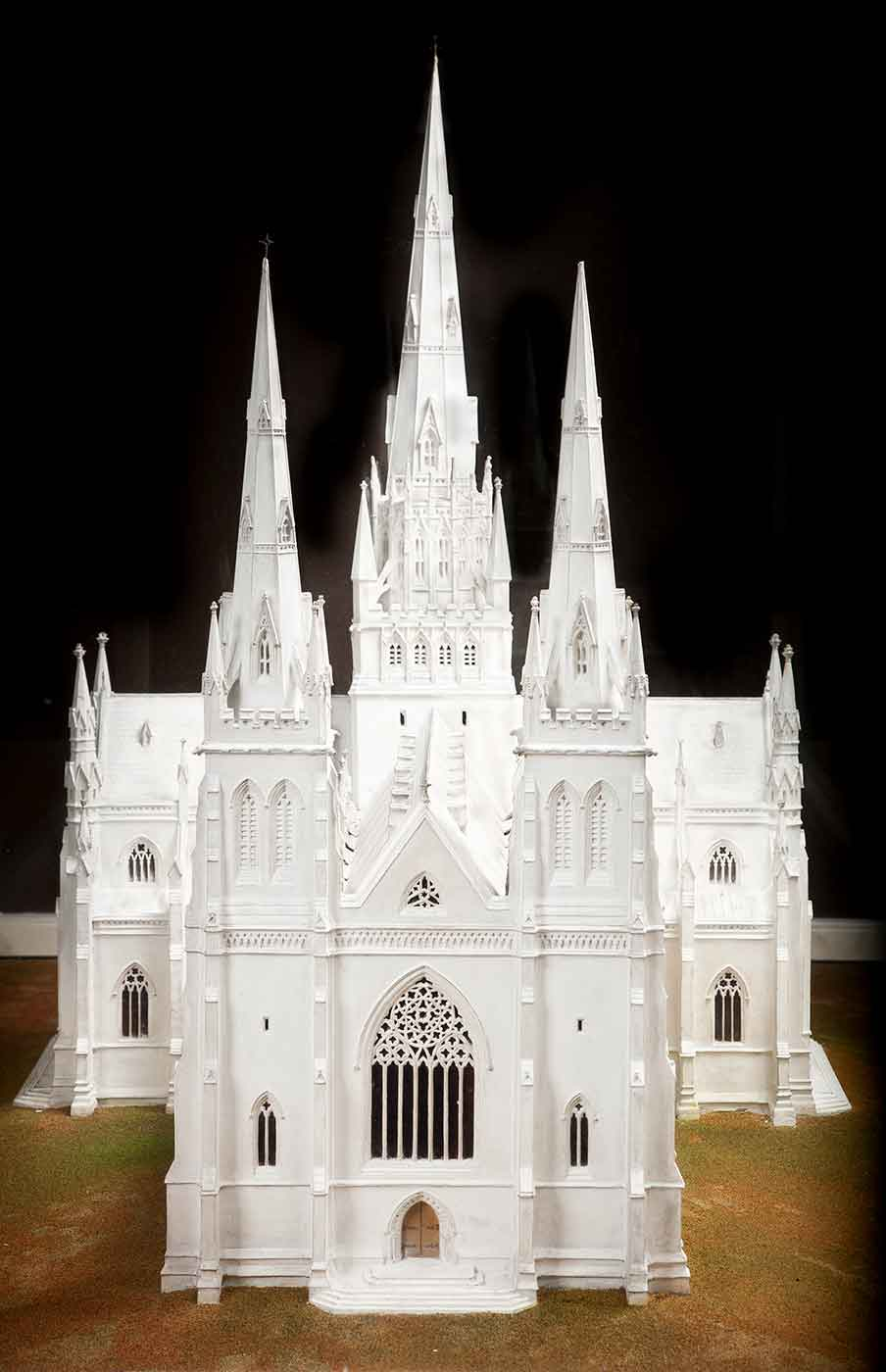 Model of a cathedral.