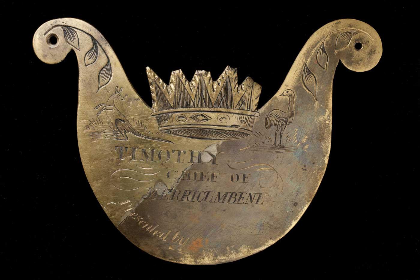 Engraved breastplate.