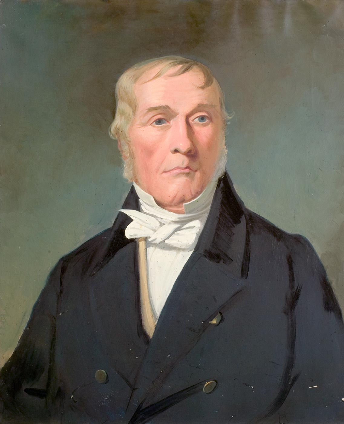 Portrait of William Faithfull, 1845 painted by ex-convict artist, Joseph Backler. - click to view larger image