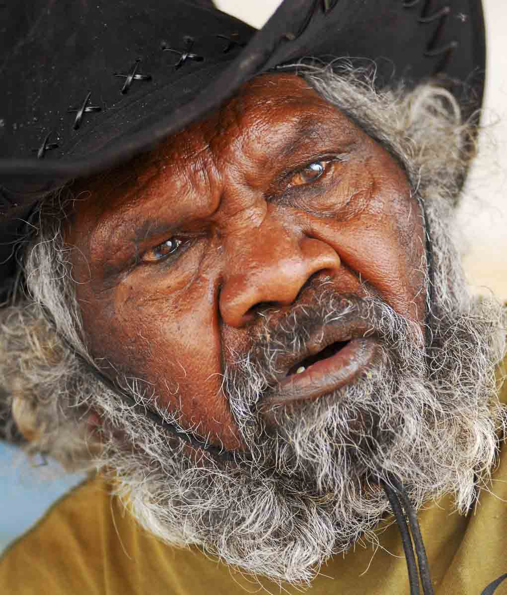 Portrait of Yunkurra Billy Atkins. - click to view larger image