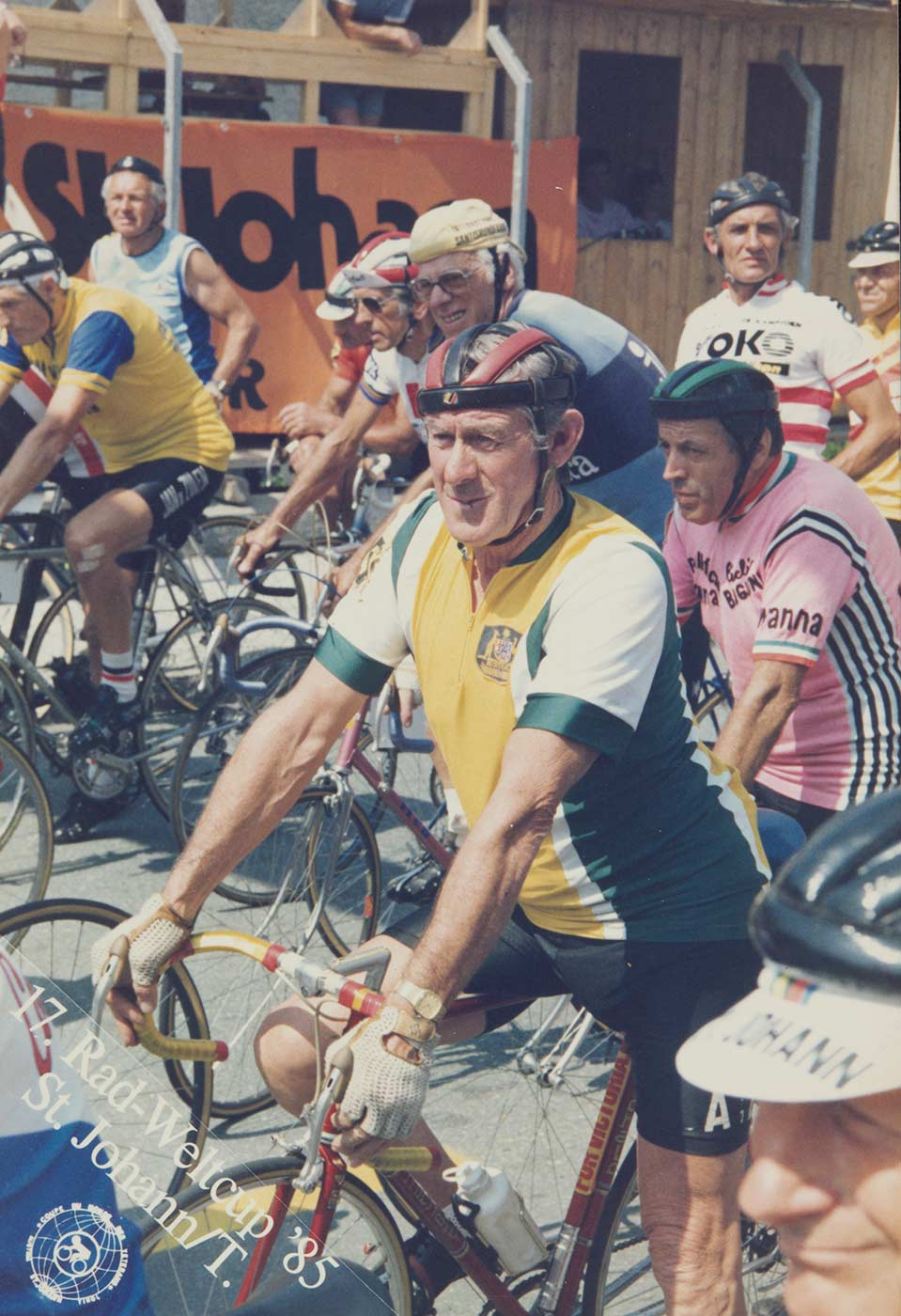 Jim Coyle at the start of the World Masters' Games, Austria, 1976. - click to view larger image