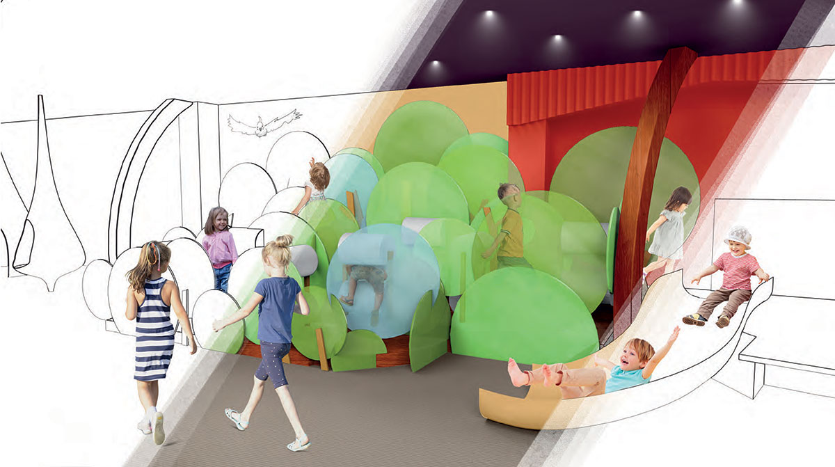 Artist impression of an outdoor play space.