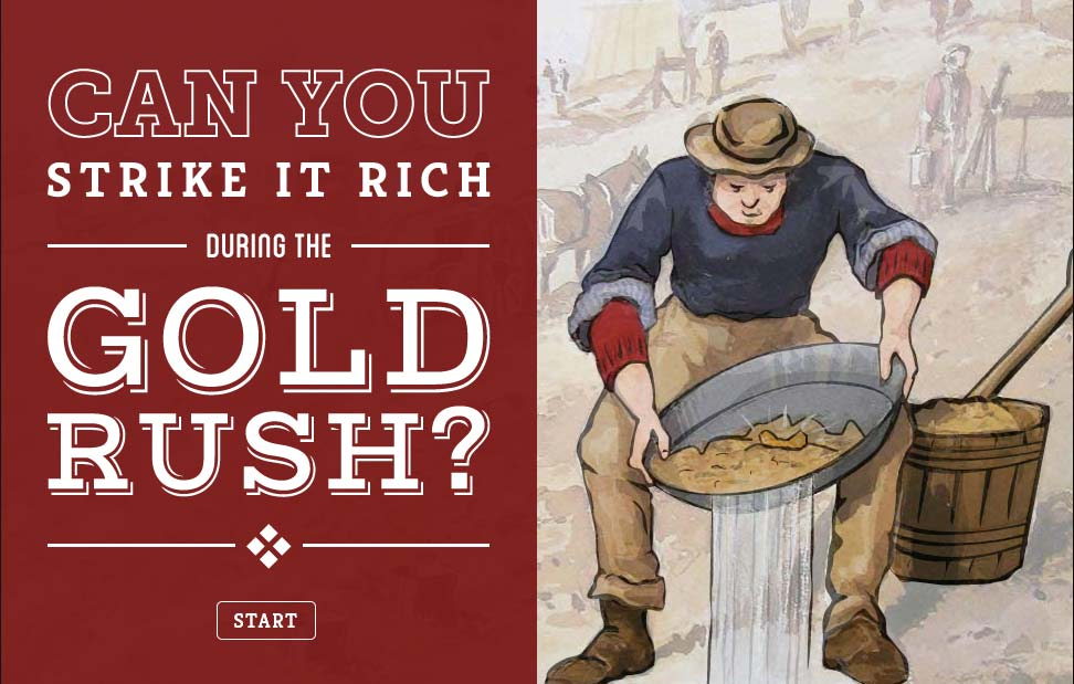 Screenshot of the Gold Rush interactive - click to view larger image