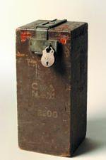 Early wooden ballot box