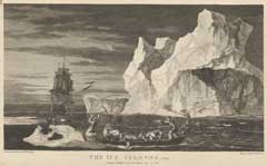 Engraving of the The Ice Islands