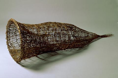 Fishtrap woven from rainforest vine.