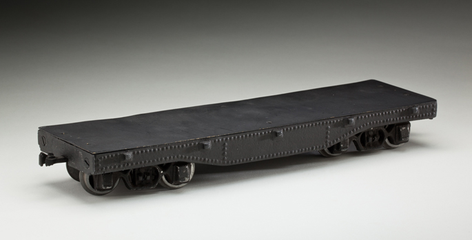 South Australian Railways 'FB' class flat wagon, made from cast aluminium by Frederick Steward and associates