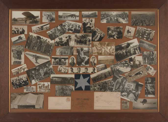Composite collection of photographs and memorabilia