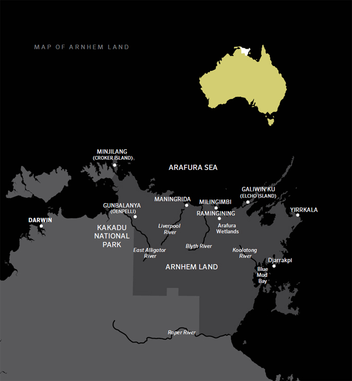 Map of Arnhem Land