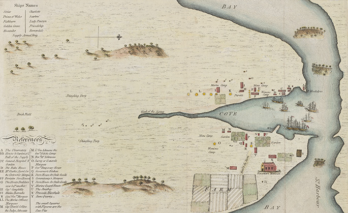 Sketch & Description of the Settlement at Sydney Cove, Port Jackson, 1788