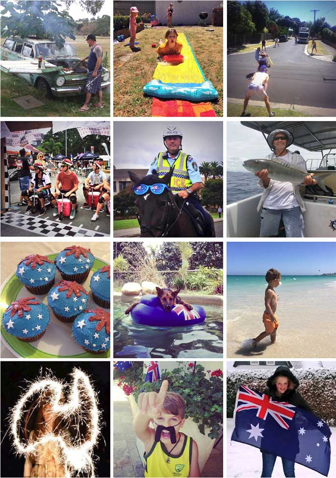 Some of the thousands of images tweeted by Australians and curated by the Museum, 26 January 2014.